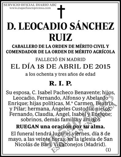Leocadio Sánchez Ruiz